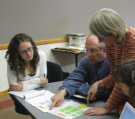 Bryan Field works with educators at a 2009 COSEE-OS workshop